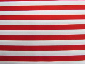 Great value 12mm Stripes Cotton- Red #PW1233 available to order online Australia