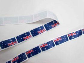 Great value Australian Flag Satin Ribbon- 35mm available to order online Australia