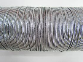 Great value 2mm Round Elastic- Metallic Silver #344 available to order online Australia