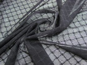 Great value Lattice Floral Stretch Mesh- Black #1154 available to order online Australia