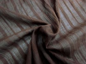 Great value Fine Liner Embroidered Voile- Chocolate available to order online Australia