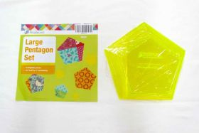 Great value Large Pentagon Patchwork Template Set available to order online Australia