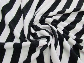 Great value Striped Fleece- Black / White #5075 available to order online Australia