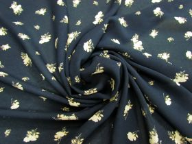 Great value Afternoon Tea Rose Viscose Crepe- Navy #5082 available to order online Australia