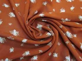 Great value Afternoon Tea Rose Viscose Crepe- Rust #5083 available to order online Australia