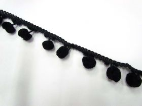 Great value Large Pom Poms- Black available to order online Australia