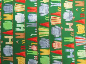 Great value Organic Cotton- Winter Gnomes- Clothes Line- Green #51875 available to order online Australia