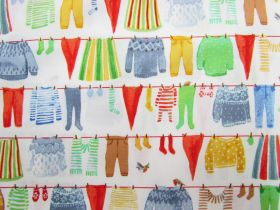 Great value Organic Cotton- Winter Gnomes- Clothes Line- White #51875 available to order online Australia