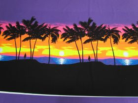 Great value 88cm Panel- Fluro Sunset Cotton Jersey #5125 available to order online Australia