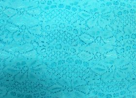 Great value 60mm Stretch Lace Trim- Clear Aqua #353 available to order online Australia