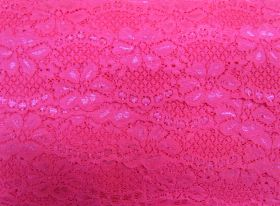 Great value 60mm Stretch Lace Trim- Sizzling Pink #352 available to order online Australia