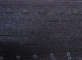 Great value 40mm Stretch Lace Trim- Midnight Dream #356 available to order online Australia