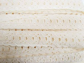 Great value 35mm Broderie Anglaise Trim- Rich Cream #358 available to order online Australia