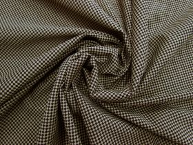 Great value Checkered Cotton Blend Jersey- Beige / Black #5132 available to order online Australia