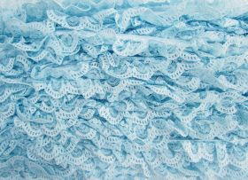 Great value 27mm Ariana Lace Frill Trim- Blue #370 available to order online Australia