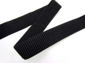 Great value 25mm Ribbed Elastic- Black available to order online Australia