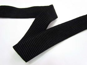 Great value 32mm Ribbed Elastic- Black available to order online Australia