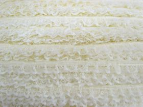 Great value 15mm Frill Lace Trim- Butter Cream #378 available to order online Australia