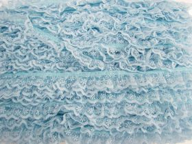 Great value 24mm Penelope Lace Frill Trim- Blue #383 available to order online Australia