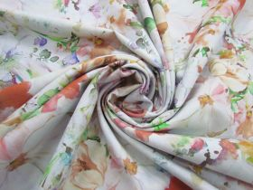 Great value 274cm Wide Quilt Backing Cotton- Dazzling Bouquet- Pastel #5170 available to order online Australia