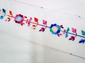 Great value San Francisco Floral Trim on Organza available to order online Australia