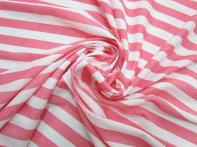 Great value Soft Interlock Jersey- Pink Lemonade Stripe #5190 available to order online Australia