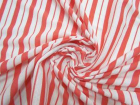 Great value Double Stripe Lightweight Ribbed Jersey- Grapefruit #5195 available to order online Australia