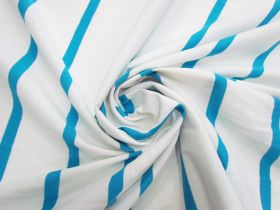 Great value Stripe Cotton Blend Knit- Fresh Blue #5198 available to order online Australia