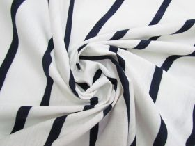 Great value Stripe Cotton Blend Knit- Navy On White #5200 available to order online Australia