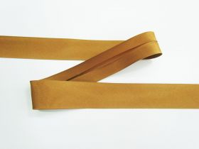 Great value 25mm Satin Bias Binding- Caramel #694 available to order online Australia