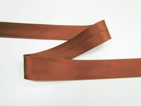 Great value 25mm Satin Bias Binding- Rich Brown #696 available to order online Australia