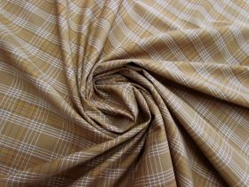 Great value Caramel Check Cotton Blend Shirting #5257 available to order online Australia