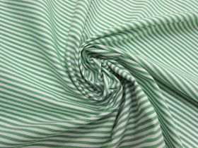 Great value 3mm Stripe Cotton Blend- Mint Green #5258 available to order online Australia