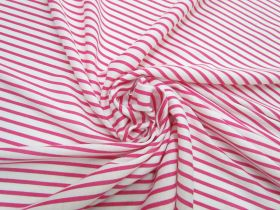 Great value Stripe Interlock Jersey- Lively Pink #5295 available to order online Australia