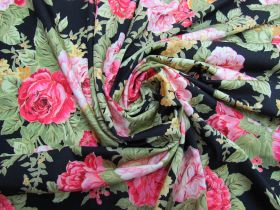 Great value Lustrous Lush Floral Spandex- Black #5327 available to order online Australia