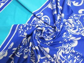 Great value 75cm Spandex Panel- Surf Blue Floral #5332 available to order online Australia