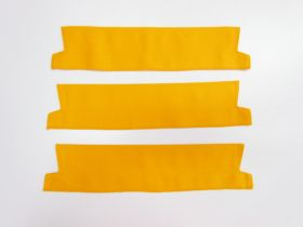 Great value Cotton Drill Pre-made Collar Bundle- 38cm Yellow- 3 for $5 available to order online Australia