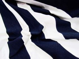 Great value 50x50 Striped Cotton Spandex- Navy available to order online Australia