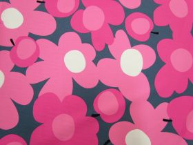 Great value Tutti Frutti Flower Cotton- Pink/Grey #5361 available to order online Australia