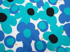 Great value Tutti Frutti Flower Cotton- Blue/White #5362 available to order online Australia