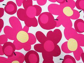 Great value Tutti Frutti Flower Cotton- Pink/White #5363 available to order online Australia