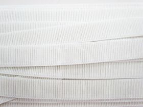 Great value Budget Elastic- 25mm Ribbed- White available to order online Australia