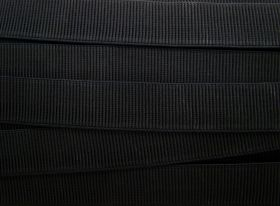 Great value Budget Elastic- 32mm Ribbed- Black available to order online Australia
