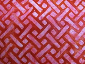 Great value Batiks Cotton- Elementals- Geo Red available to order online Australia