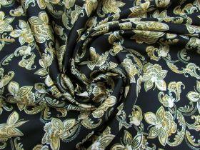 Great value Golden Flourish Satin Chiffon #3874 available to order online Australia
