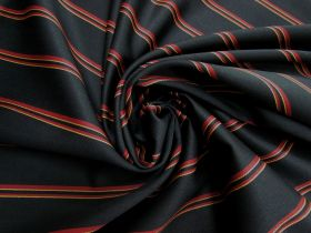 Great value Wool Blend Twill Suiting- Danger Stripe #5441 available to order online Australia