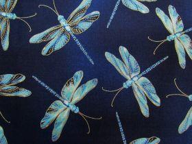 Great value Moonlight Serenade Cotton- Moonlit Dragonflies- Indigo available to order online Australia