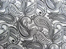 Great value Night & Day Cotton- Paisley White/Black #299 available to order online Australia