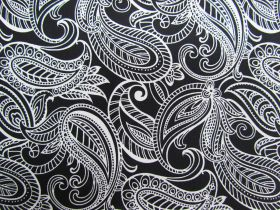 Great value Night & Day Cotton- Paisley Black/White #290 available to order online Australia