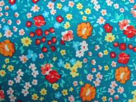 Great value Flower Festival Cotton- Teal PW1313 available to order online Australia